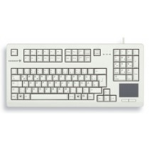 "CHERRY Keyboard mit Touchpad USB 19"" hellgrau US/€ Layout"