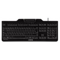 CHERRY Keyboard KC 1000 SC USB mit Kartenleser schwarz US/€ Layout