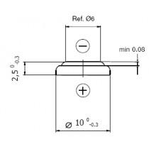 Lithium-Batterie 3V/30mAh, Bulkversion