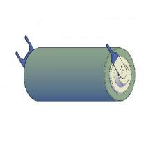 Lithium Li-MnO2 Batterie 3V, 1800mAh VX Terminals