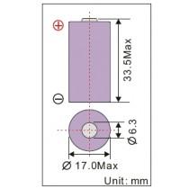 Lithium-Batterie 3V, 1800mAh