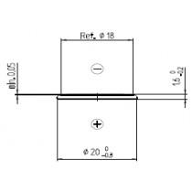 Lithium-Batterie 3V/90mAh Bulk