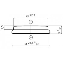 Lithium-Batterie 3V/540mAh, Blister