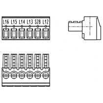 PC-Schraubklemme, anreihbar, 06 pol., RM 3.81mm