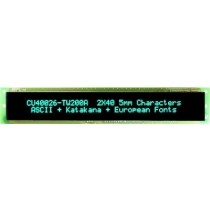 VFD Module 40x2Ch, 188.55 x 16mm Display area,