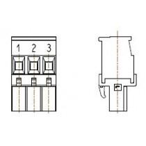 PC-Schraubklemme, anreihbar, L, 03 pol. RM 5.00mm