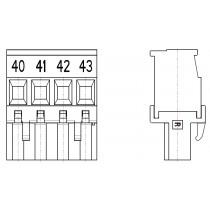 PC-Schraubklemme, anreihbar, 04 pol. RM 5.08mm