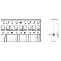 PC-Schraubklemme, anreihbar, 09 pol. RM 5.00mm