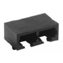 RJ45 side entry, Ferrite 2 x 8 pol, shielded