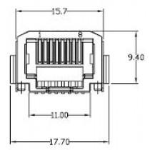 RJ45-Verbinder, 8-pol, SMT / NCNR