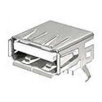 USB-Verbinder Serie A, 4-polig, liegend