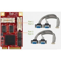 mPCIe to 4x RS232