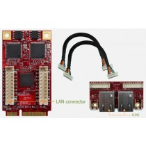 mPCIe to 2x GbE LAN Wide Temp.