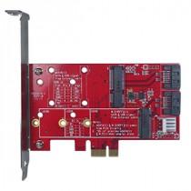 PCIe to mSATA & M.2 Card