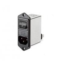 IEC Switch & 2 Fuse 250VAC, 10A,