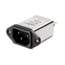 IEC 250VAC, 10A, Faston, Snap-in Horizontal