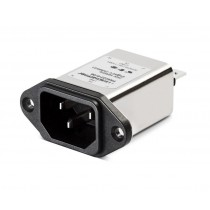 IEC 250VAC, 6A, Faston, Wide Flange, MOV