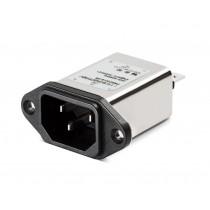 IEC HP Plus 250VAC, 10A, Faston, Wide Flange