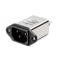 IEC EP 250VAC, 10A, R, Faston, Snap-in Horizontal