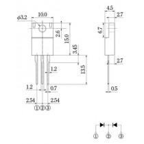 Schottky Diode 40V 10A FTO-220G