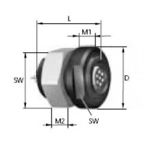 MINI-SNAP PC Baugr. 2, Bu-Einsatz 6-pol,
