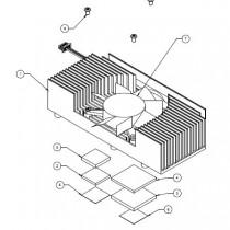 Heatspreader for COMe-cOH, active threaded