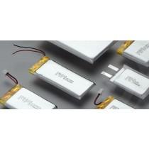 Lithium Ion Polymer 3,7V/130mAh mit Litzen 12mm