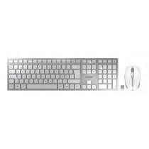 CHERRY Keyboard+Mouse DW 9100 SLIM wireless+Bluetooth white-silver DE Layout USB-C