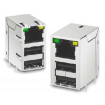 THROUGH HOLE USB/RJ45 COMBO 10/100 (USB 6-10)