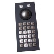 Keyboard 26 keys Trackball 38mm Panel-Mount USB