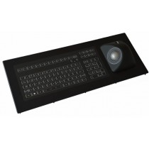 Keyboard with Ergo-Trackball 50mm IP67 panel-mount USB US-Layout