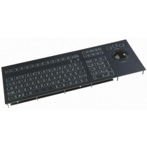 Keyboard with Trackball 50mm IP65 panel-mount PS/2 US-Layout