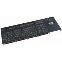 Keyboard with Trackball 50mm IP67 panel-mount USB German-Layout