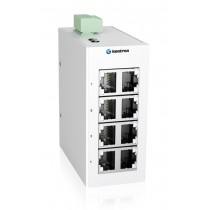 Industrial 8-port Unmanaged Ethernet Switch,-40 °C to 75 °C of operating temperature, Dual DC power