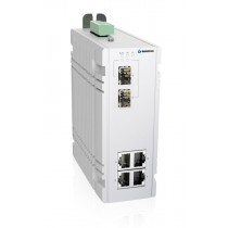 Industrial 6-port managed Ethernet switch,-10 °C to 60 °C of operating temperature, dual DC power in