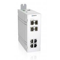 Industrial 8-port managed Ethernet switch-40 °C to 75 °C of operating temp., dual DC power input