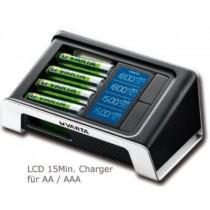 Varta LCD 15 Minutes Charger + 4xAA 2400mAh R2U + 12 V