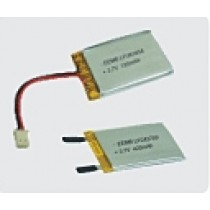 Lithium-Polymer 3.7V 420mAh VA protection wires and conn.