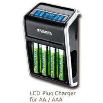 Varta LCD Plug Charger + 4xAA 2100mAh R2U