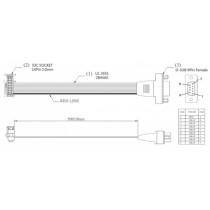 Kabel IDC 2.0 to SUB-D 9 pin female