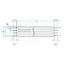 AXOSTRIP, RFC, Raster 2.54 mm, 4 - polig