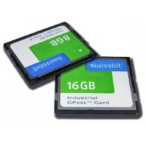Industrial CFast Card, F-56, 128 GB, PSLC Flash, -40°C to +85°C