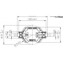 Batteriehalter für CR2016, SMD