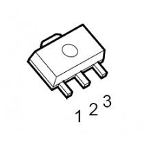3-Terminal 12V Neg. Voltage Reg. SOT-89 pb-free