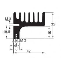Strangkühlkörper mit M3 Gewinde