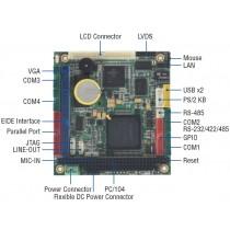 PC/104, Vortex86DX 800Mhz, 256MB DDR2, -20°C ~ +70°C, CF socket