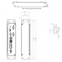Bracket for Vertical Cabinet Mounting of KBox-A101