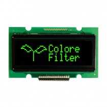 "OLED 76x16 monochrome COB Graphic Display 1.7"" with built in Controller WS0010"