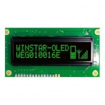 "OLED 100x16 monochrome COB Graphic Display 2.4"" with built in Controller WS0010"
