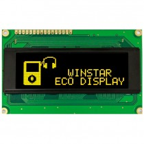 "OLED 100x32 monochrome COB Graphic Display 2.44"" with built in Controller WS0010"